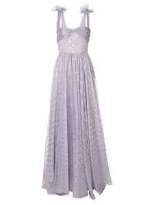 Bambah Eva polka-dot gown - Purple