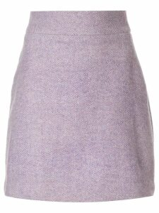 Bambah diagonal stripe Serena mini skirt - Purple