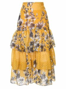 Bambah floral ruffle skirt - Yellow