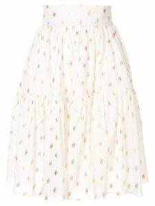 Bambah disco mini skirt - White