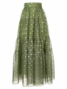 Bambah polka dot peasant skirt - Green