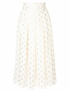 Bambah Disco polka-dot midi skirt - White