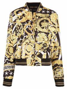 Versace Savage Barocco print bomber jacket - Black