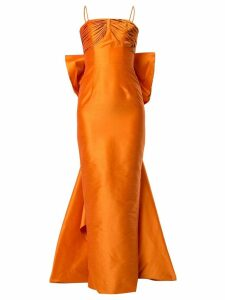 Bambah pencil back bow gown - Orange