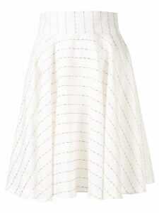 Bambah striped oriental skirt - White