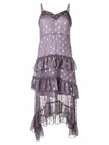Bambah polka dot ruffle dress - Purple