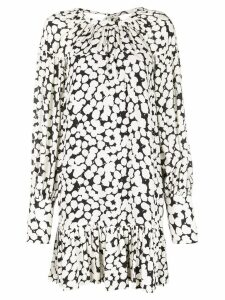 Proenza Schouler Painted Dot Long Sleeve Short Dress - White