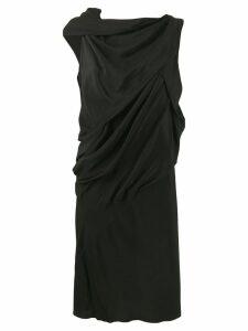 Rick Owens asymmetric shift dress - Black
