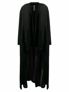 Rick Owens draped cardi-coat - Black
