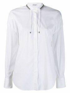 Brunello Cucinelli drawstring long-sleeve shirt - White