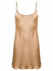 La Perla silk slip dress - Neutrals