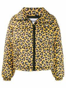 MSGM leopard-print puffer jacket - Yellow