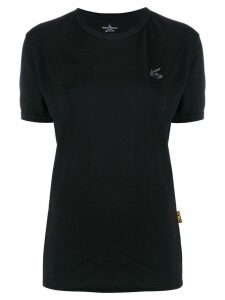 Vivienne Westwood Anglomania embroidered logo T-shirt - Black
