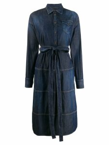 Dsquared2 structured shirt denim dress - Blue