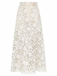 Skiim lace midi skirt - White
