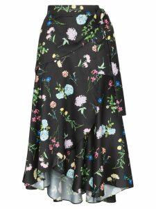 Paper London Fresa floral print midi-skirt - Black