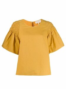 The Great. boxy shirred sleeve blouse - Yellow