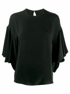 Valentino ruffled batwing blouse - Black