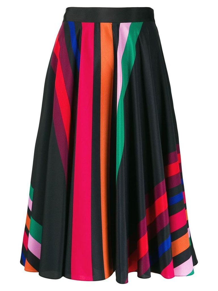 PS Paul Smith striped midi skirt - Black