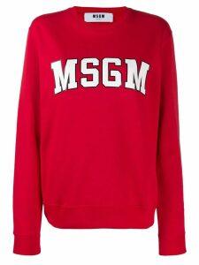 MSGM logo sweatshirt - Red