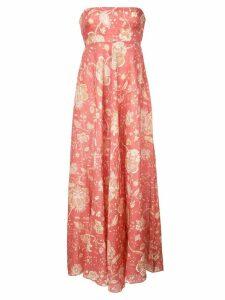 Zimmermann floral print bandeau maxi dress - Orange