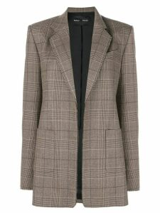 Proenza Schouler Plaid Suiting Blazer - Brown