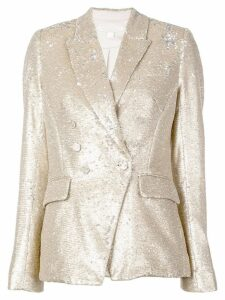Jonathan Simkhai sequin double breasted blazer - Gold