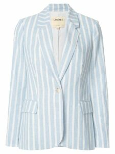 L'Agence two tone striped blazer - Blue