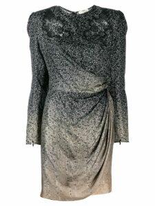 Fendi draped mini dress - Black