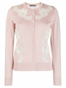 Dolce & Gabbana lace insert cardigan - Pink