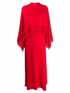 Valentino pleated trim two-tier dress - Red