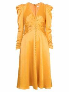 Jonathan Simkhai ruched midi dress - Orange