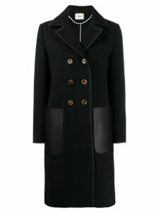 Fendi patch pocket peacoat - Black