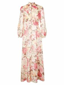Zimmermann floral pussy bow maxi dress - Pink