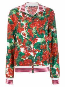 Dolce & Gabbana floral print bomber jacket - Green