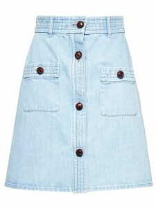 Miu Miu bleached denim skirt - Blue