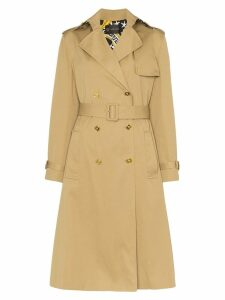 Versace double-breasted belted trench coat - NEUTRALS