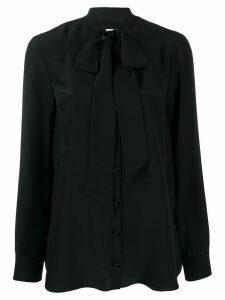 Alexander McQueen pussy bow blouse - Black
