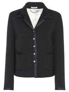 Miu Miu classic fitted blazer - Black