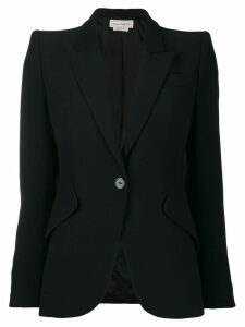 Alexander McQueen single button blazer - Black