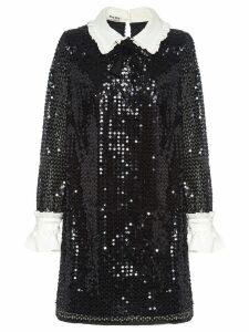 Miu Miu sequinned mini dress - Black