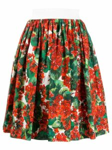 Dolce & Gabbana floral print skirt - Red