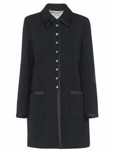 Miu Miu jewelled button coat - Black