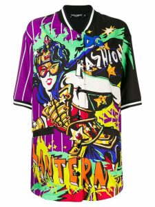 Dolce & Gabbana comic print short-sleeve shirt - Purple