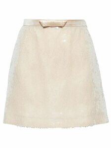 Miu Miu sequinned mini skirt - Neutrals