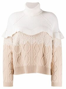 Fendi cable-knit dress - Neutrals