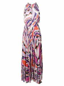 Emilio Pucci Burle Print Halter-Neck Maxi Dress - Purple