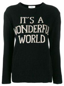 Alberta Ferretti intarsia-knit jumper - Black