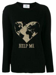 Alberta Ferretti embroidered fitted sweater - Black