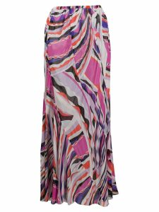 Emilio Pucci geometric panelled pencil skirt - Pink